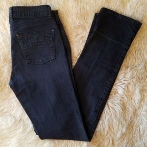 ZARA BLACK JEANS DISTRESSED WITH THAT STRETCH!